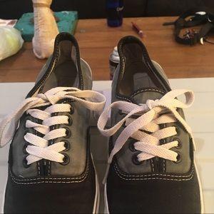 Vans men's size 7 Black and gray
